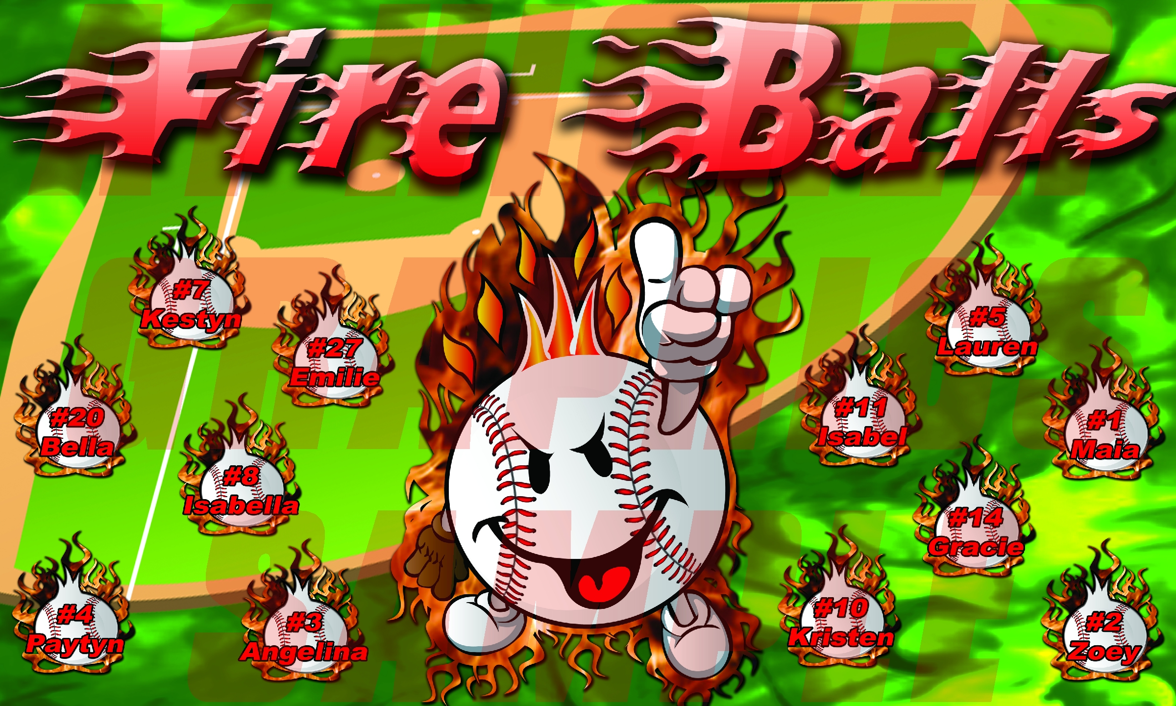 Fire Balls Banner